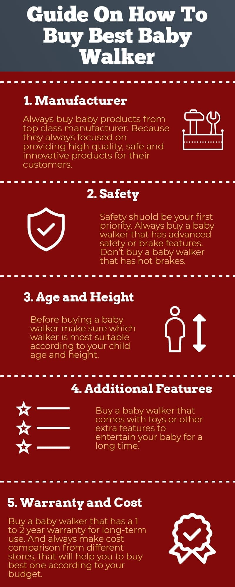 Infographic best  baby walker